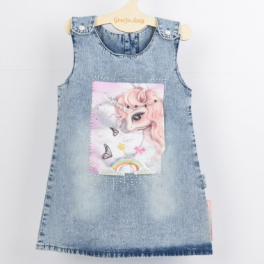 Jeansowa sukienka dla...